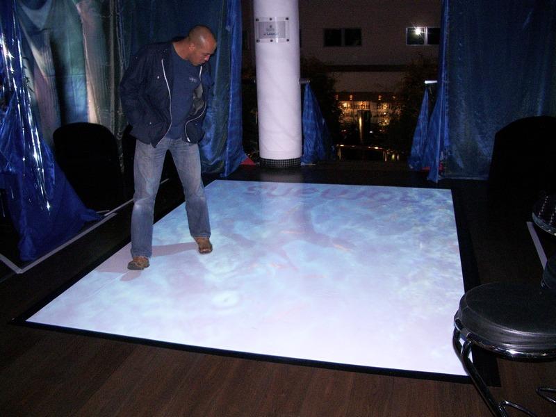 Interactive Floor Projection System Football Effect. Interactive_floor